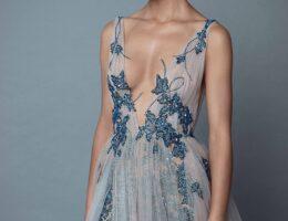 váy cưới màu xanh